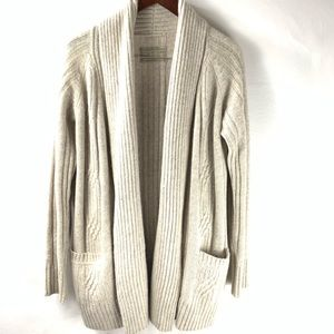 All Saints Marquis Cardigan Beige Wool Size 8 Open